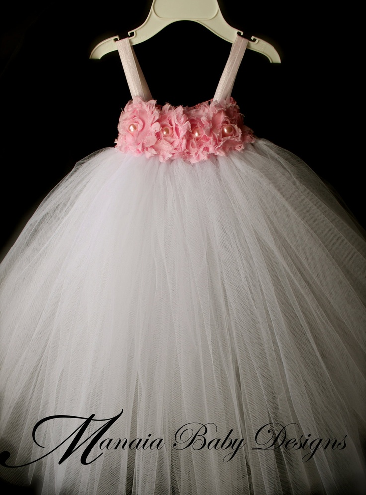 Flower Girl Tutu Dress / Pink Tutu Dress by ManaiaBabyDesigns