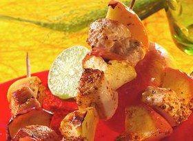 Brochettes de poulet au citron vert - Cuisine au barbecue
