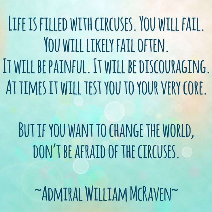 Admiral William McRaven #Goals #motivation #changetheworld #determination #life #quote