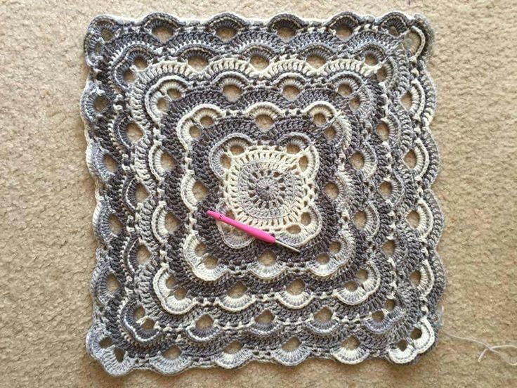 Virus shawl made square Crochet Pinterest Circles ...