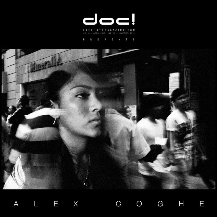"doc! photo magazine presents:  Alex Coghe  ""We should make photos for ourselves"" (interview, #10, pp. 35-47) and ""Reality Remade"" (photo essay, #10, pp. 48-67)"
