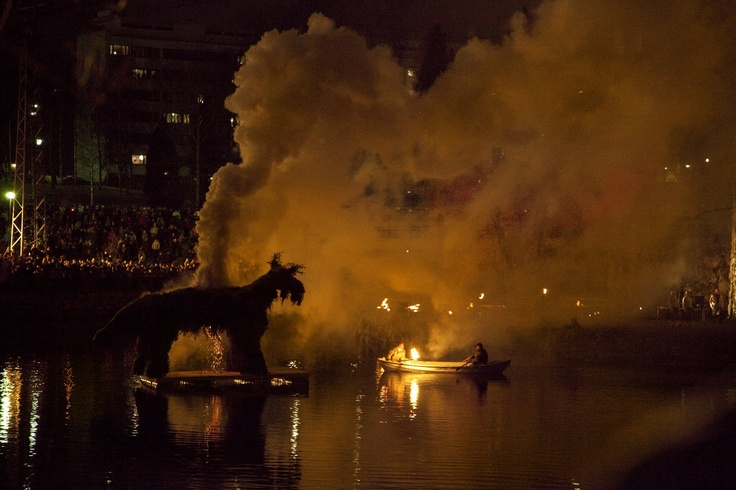 """Kekri is an ancient harvest festival in Finland. The word """"kekri"""" means ending of something. The main event of the festival is the burning of the scary creature, a goat called """"Kekripukki""""."""