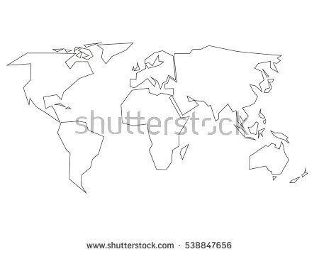 Best Outline Of World Map Ideas On Pinterest Life Wheel - Basic world map outline