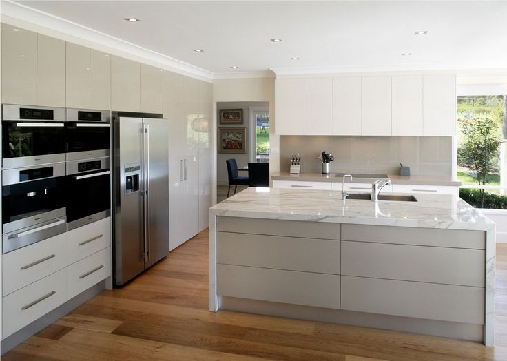 Really big kitchen in polished white