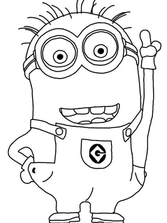 Minions coloring pages peace minion ~ Minion Coloring Pages | Minion coloring pages, Coloring ...
