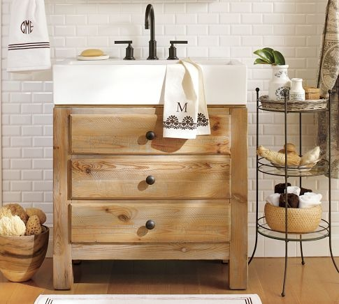 Love the light wood: Downstairs Bathroom, Guest Bathroom, Modern Bathroom, Bathroom Vanities, Bathroom Sinks, Kids Bath, Bathroom Barns, Powder Rooms, Pottery Barns