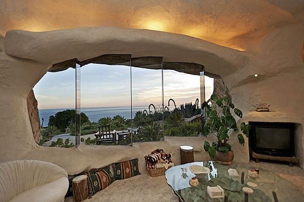 Dick Clark's Unique Flintstone-Style House
