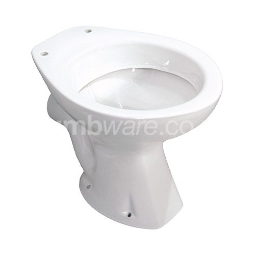 Low-Level WC pan with horizontal outlet. Available in Adult, Junior and Infant pan heights.