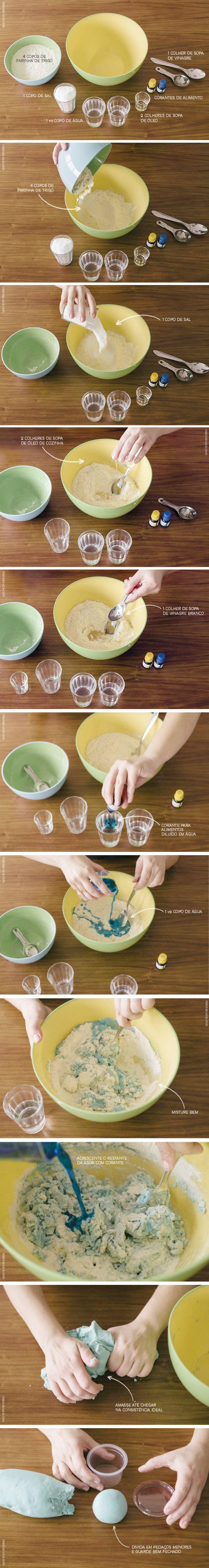 Passo a Passo Massinha Caseira | Play dough tutorial