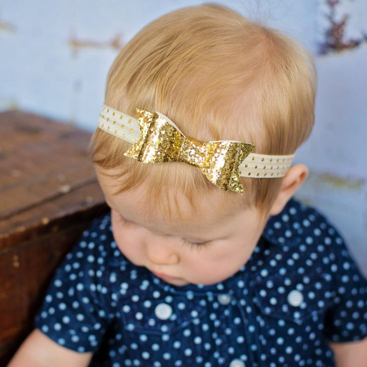 $.83// Baby Glitter bow headband// Delivery: 2-4 weeks