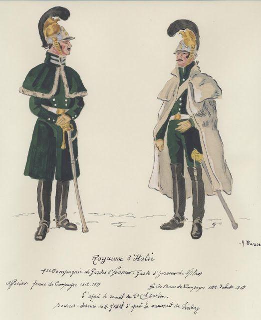 Ufficiale e guardia della guuardia d'onore reale del regno d'Italia