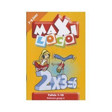 Maxi Loco / Tafels 1-10  Dit is een leuk boekje met de tafels 1 tot 10 voor kinderen in groep 4 leeftijd 7 tot 9 jaar.  EUR 9.95  Meer informatie