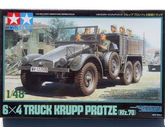 Maquette Tamiya 32534 6x4 Truck Krupp Protze