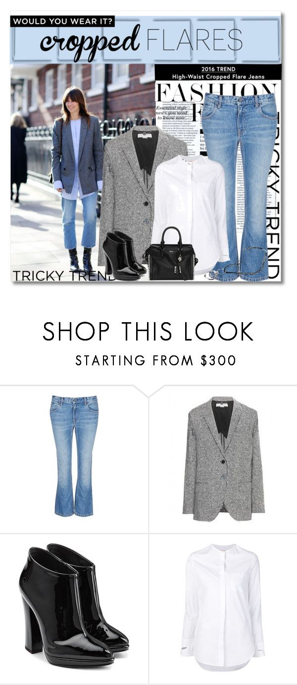 """Would You Wear It:  Cropped Flares"" by cathy1965 ❤ liked on Polyvore featuring T By Alexander Wang, STELLA McCARTNEY, Giuseppe Zanotti, Coperni Femme, Alexander McQueen, women's clothing, women's fashion, women, female and woman"