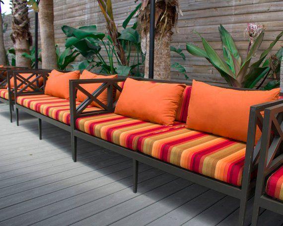 Sunbrella Custom Loveseat Sofa Cushions Outdoor Seat Back Etsy Outdoor Lounge Cushions Cushions On Sofa Outdoor Seat