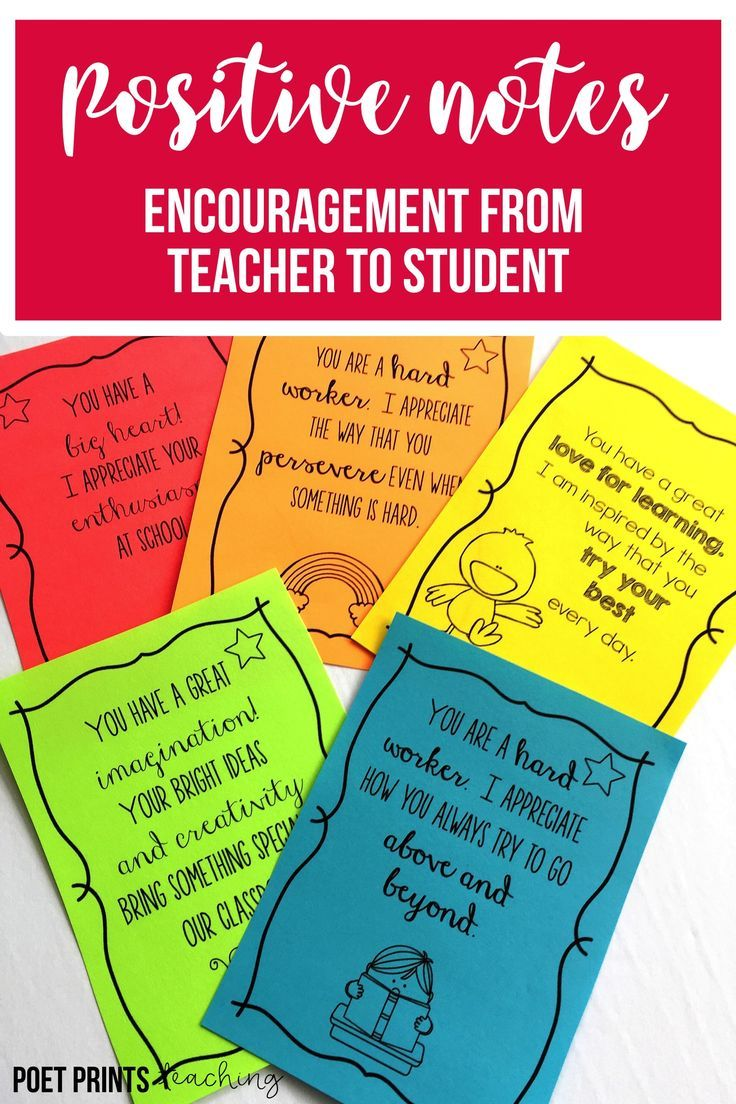 Encouragement Notes For Students Encouraging Notes For Students