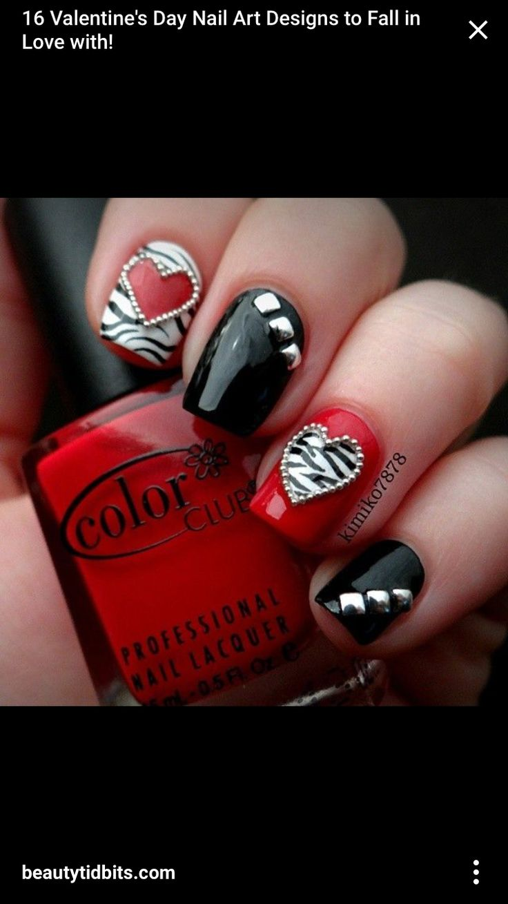 32 best 3d Valentine\'s Day Nail Art Designs images on Pinterest ...