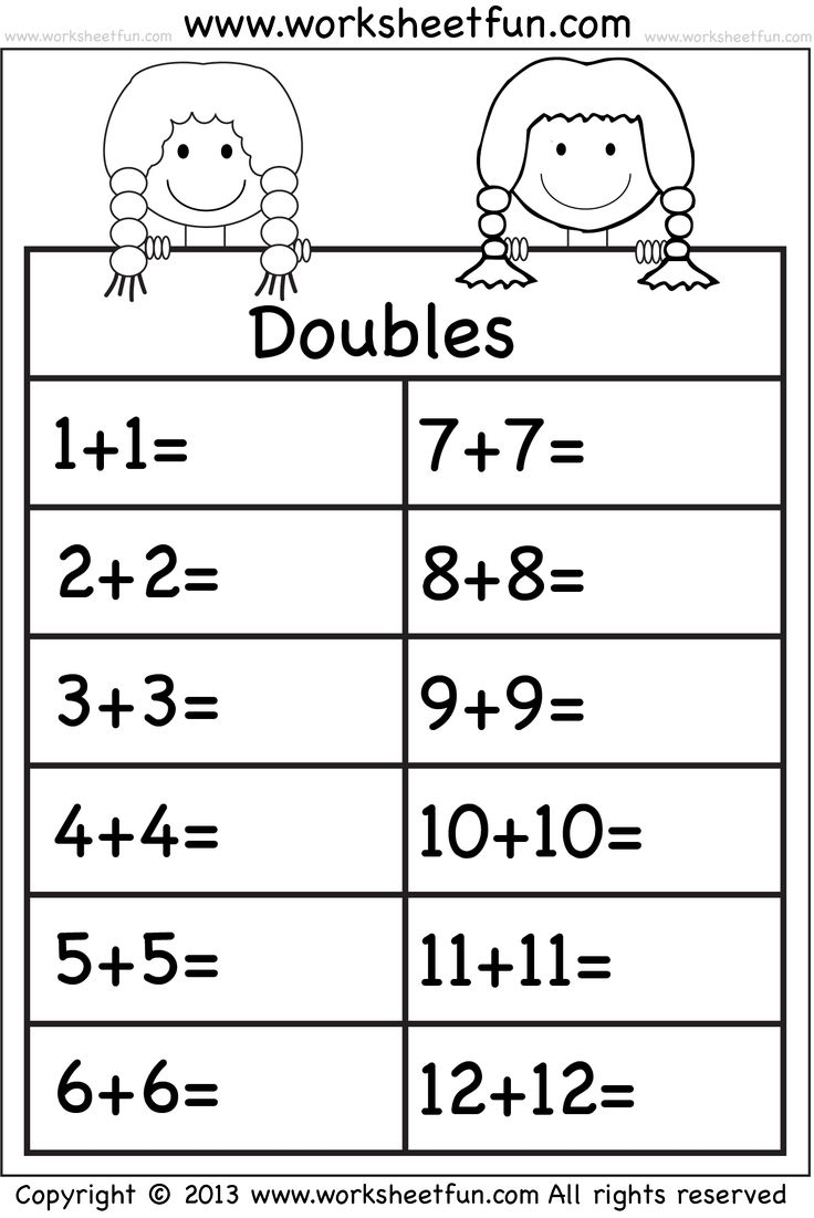 Uncategorized Doubles Facts Worksheets 459 best school math images on pinterest