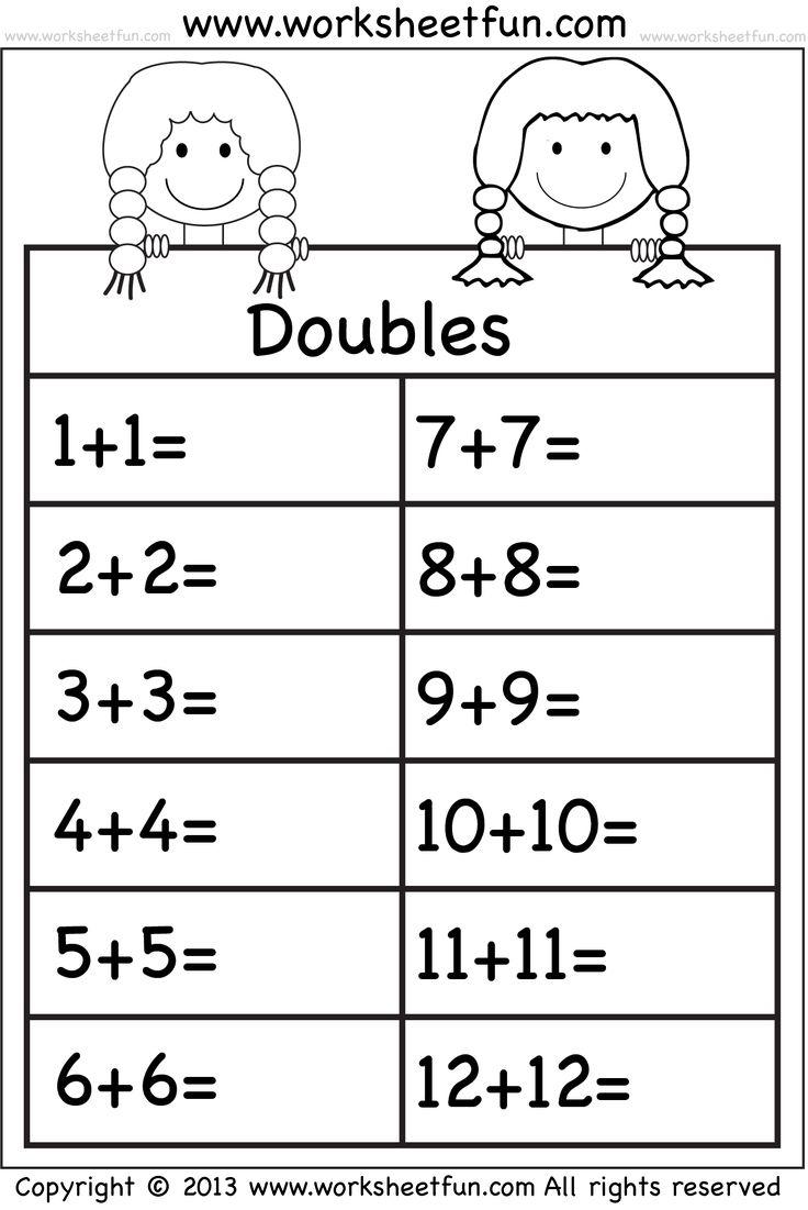 Uncategorized Math Doubles Worksheets 459 best school math images on pinterest