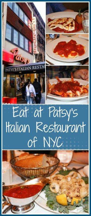 Eat at Patsy's Italian Restaurant of NYC
