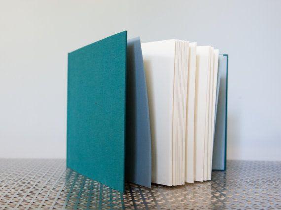 Large Horizontal Dark Teal Hardcover Notebook  Sketchbook
