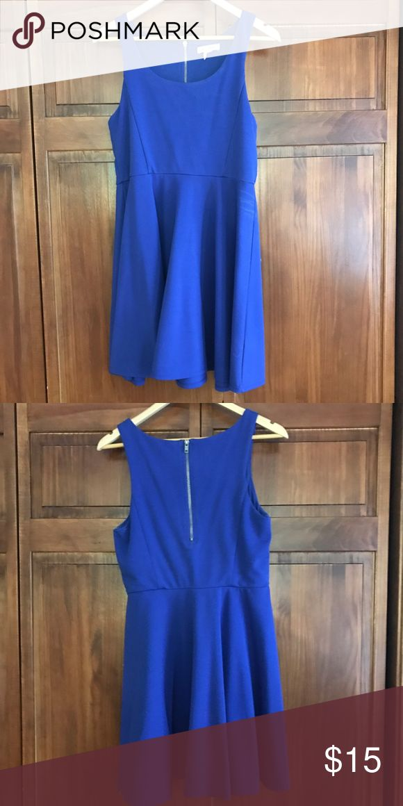 royal blue tank top dress royal blue sleeveless 👗 ~ size L  ~ Aeropostale ~ looks  great with a cardigan as Schmidt would say ~ make me an offer :) Aeropostale Dresses Midi