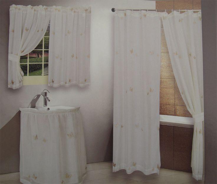17 Best ideas about Bathroom Curtain Set on Pinterest | Window ...