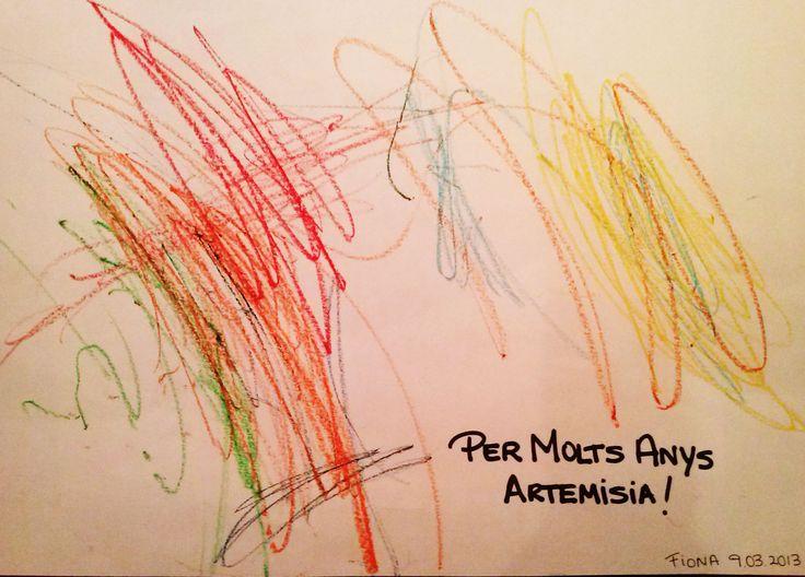 Dibujo de la Stra. Fiona por el primer aniversario Artemisia, realizado en La Garriga