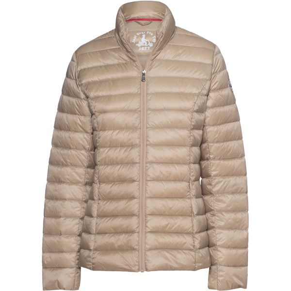 JOTT - JUST OVER THE TOP Cha Down Beige // Quilted light down jacket ($190) ❤ liked on Polyvore featuring outerwear, jackets, quilted jacket, lightweight jackets, nylon jacket, slim fit jacket and padded jacket