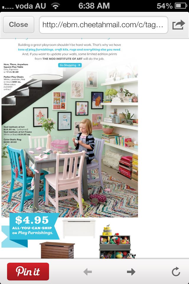 A kids playroom design from the land of nod