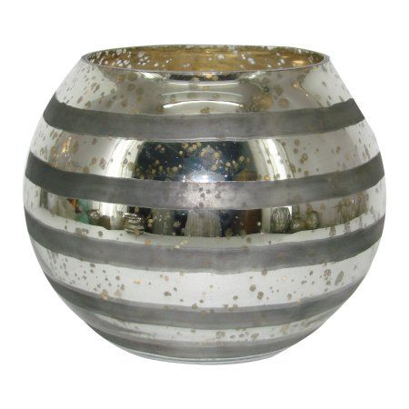 A Home Glass Votive Holder, 7.1 by 5.5-Inch
