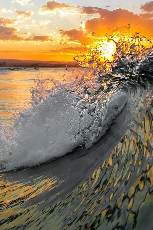 Wave on fire