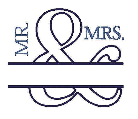 Herr & Frau Hochzeit Applique Design von boutiquefonts auf Etsy