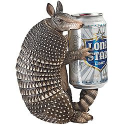 "Let ""Tex,"" the armadillo guard your drink until you're good and ready to chug it! $29.97"