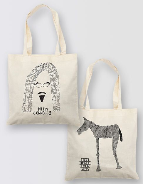Billy Connolly High Horse Tour 2015 tote bag