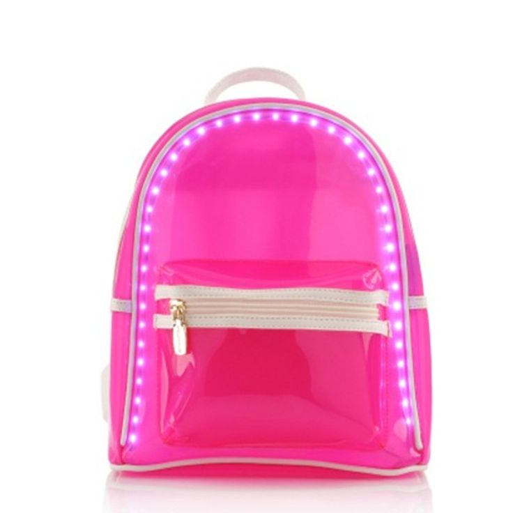 Women LED Luminous Backpack PVC Jelly USB Light Up Charging School Bags Transparent Bag For Teenagers Backpacks Bolsos Mujer