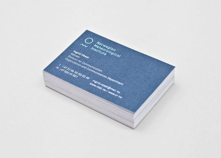 42 best business cards images on pinterest carte de visite business card designed by neue for the norwegian meteorological institute reheart Images