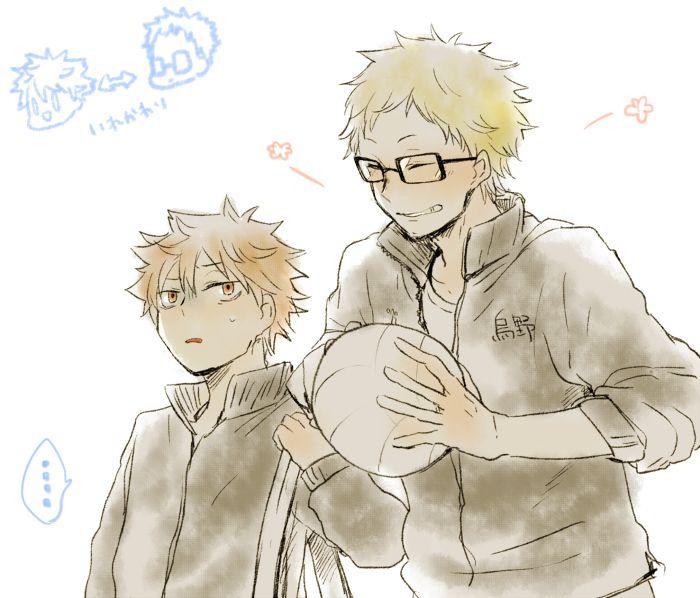 haikyuu hinata and tsukishima personality swap. this is funny and awkward XD