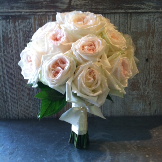 fantastic work as always by flowers by david anthony white ohara garden rose bridal bouquetwhite