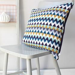 Chevron Knitted Lambswool. Cushion