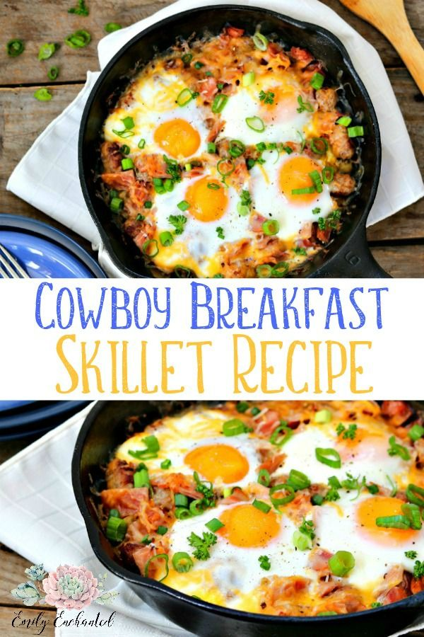 Cowboy Breakfast Skillet With Sunny Side Up Eggs Egg