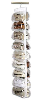 18-Pair Hanging Shoe Organiser