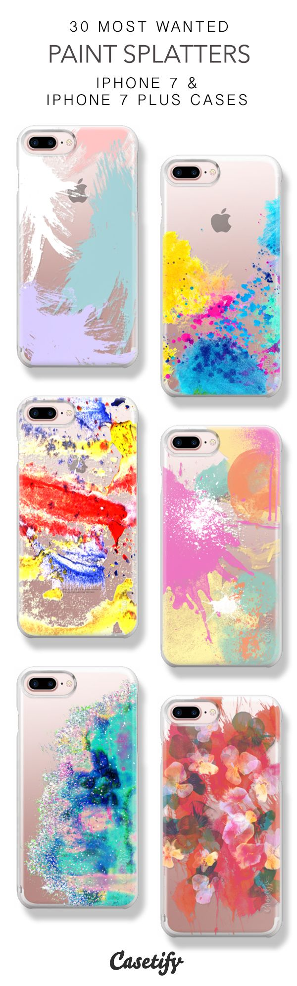 30 Most Wanted Paint Splatters Protective iPhone 7 Cases and iPhone 7 Plus Cases. More Colorful iPhone case here > https://www.casetify.com/collections/top_100_designs#/?vc=2zDvPTYEhd