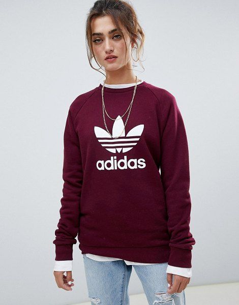 f7acbd90160 adidas Originals trefoil crew neck sweatshirt.  adidasoriginals  athleisure   activewear