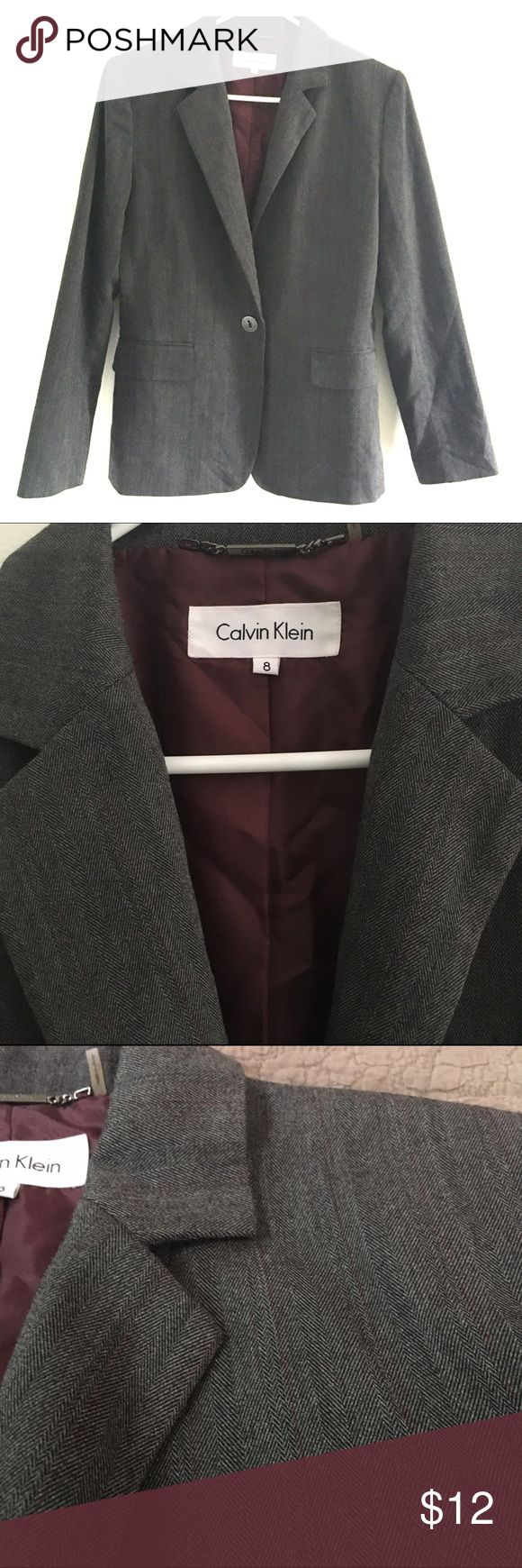 Calvin Klein Lined Suit Jacket A little rumpled from my closet but still a nice, quality jacket in great condition. Calvin Klein Jackets & Coats Blazers