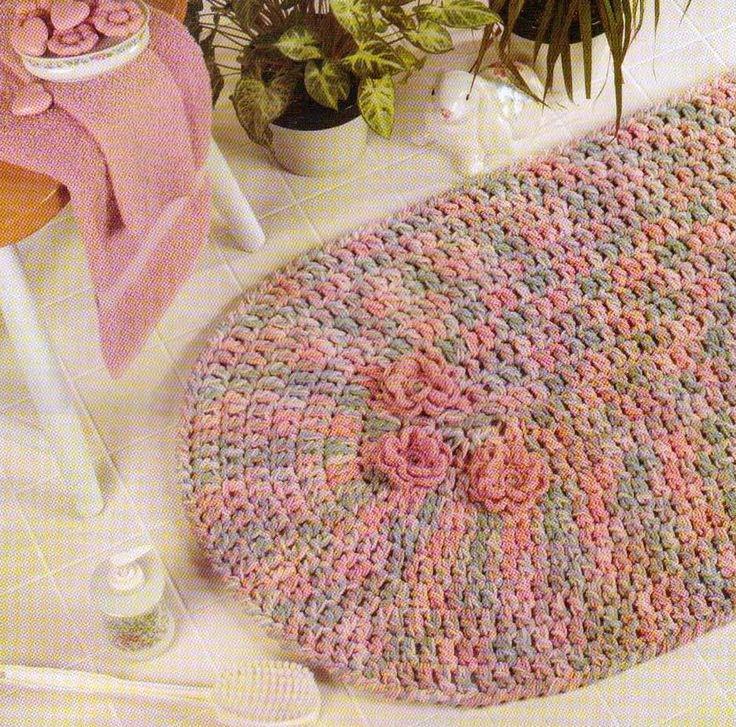 PRETTY BATH RUG MAT CROCHET PATTERN INSTRUCTIONS ONLY FROM A BOOK  PATTERNINSTRUCTIONSFROMABOOK. 1000  ideas about Bath Rugs  amp  Mats on Pinterest   Knitting