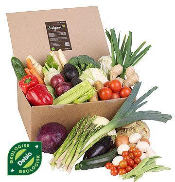 økologiske grønnsaker levert på døra