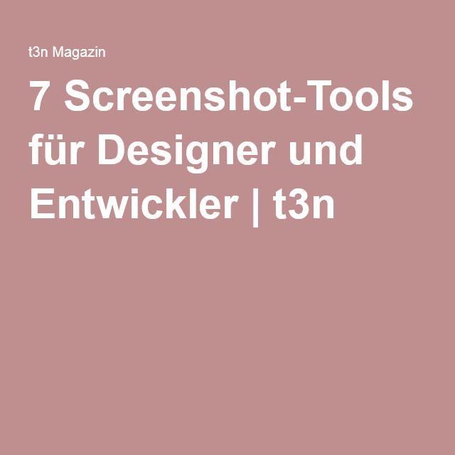 7 Screenshot-Tools für Designer und Entwickler | t3n