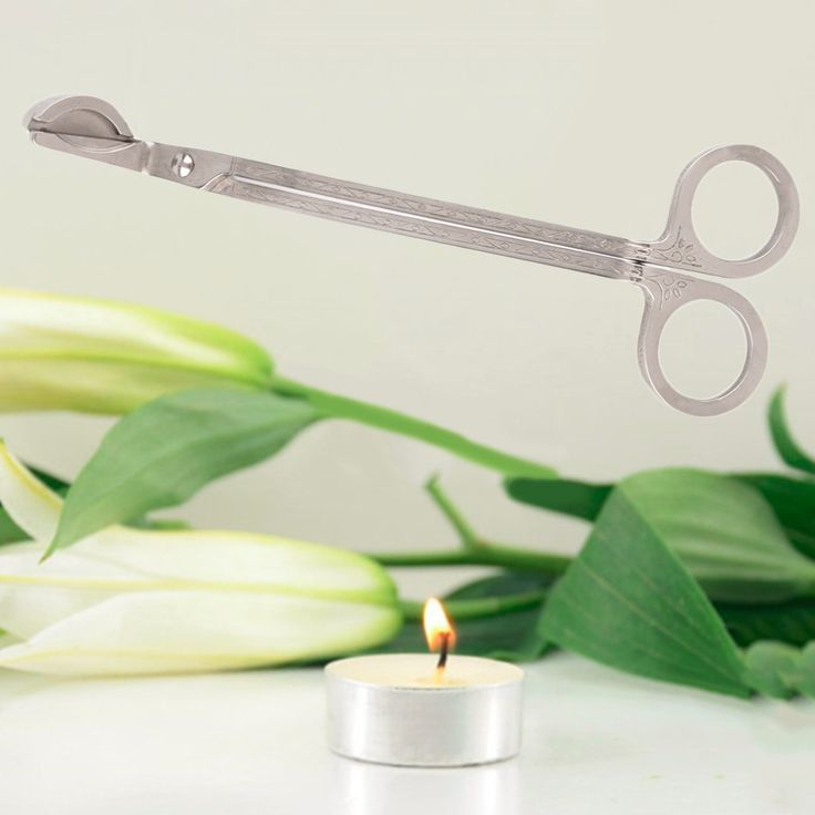 Candle Wick Oil Lamp Stainless Steel Scissors Trim Trimmer Cutter Snuffers