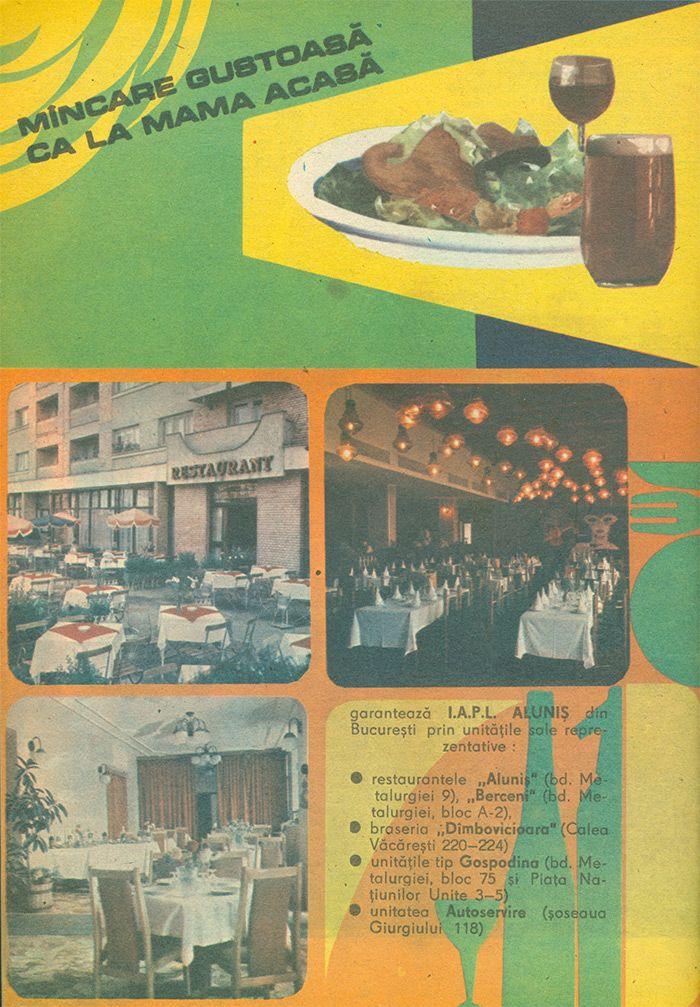 Restaurant Alunis si Braserie Dimbovicioara Bucuresti - #retro #advertising #romania
